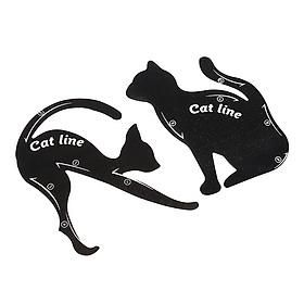 Khung kẻ mắt mèo tiện lợi hình con mèo