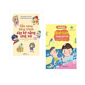 Combo 2 cuốn Cẩm nang bằng tranh dạy kỹ năng ứng xử + Lật mở cùng con - Bình tĩnh chuyện giới tính (Giúp trẻ biết phân biệt giới tính, nhận biết cơ thể và bảo vệ mình)