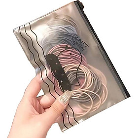 Túi thun (chun) cột tóc nhiều màu (kèm túi con gà xinh xắn)