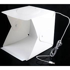 Hộp studio mini chụp sản phẩm tích hợp đèn Led vòng 72 bóng và 4 phông nền