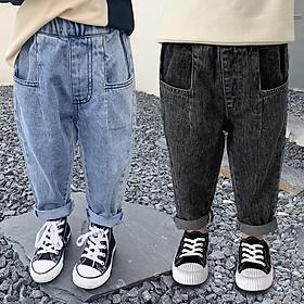 QJ51Size 90-130 (9-27kg)Quần jean thụng bé trai, k co giãnThời trang trẻ Em hàng quảng châu
