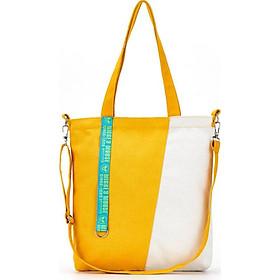Túi đeo chéo, túi đeo vai nữ phối màu vải canvas TV13