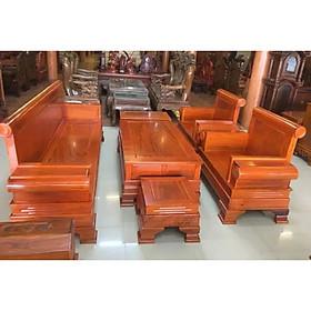 Bộ salon gỗ mặt liền mẫu tời pháo , mẫu đơn giản, hiện đại cho phòng khách