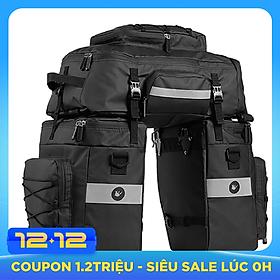 3 in 1 Mutifunctional Bike Rear Bag Waterproof Bicycle Shoulder Bag Bike Saddle Bag Bicycle Cargo Rack Pannier Long