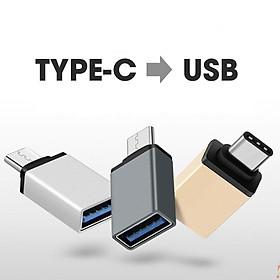Giắc chuyển từ cổng Type-C sang USB giành cho macbook, máy tính bảng, điện thoại (Mã: PKL02)
