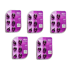 Combo 5 Vỉ  Serum Vitamin Dưỡng Tóc Uốn Nhuộm Ellips Nutri Color 100707091(5 Vỉ x 6 Viên / Vỉ  )