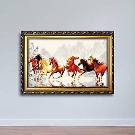 Tranh Con Ngựa: Tranh Bát Mã Truy Phong W656