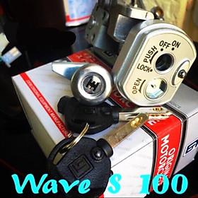 Bộ ổ khoá 6 cạnh wave S 100, khoá điện 6 cạnh lắp cho ưave S 100
