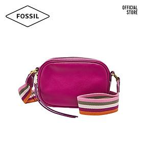 Túi đeo vai nữ khoá kéo nhỏ thời trang Fossil Masie Camera SHB2642508 - màu hồng tím