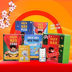 [Hộp sách Tết 2021 - Phiên bản giới hạn] Combo 4 sách học tiếng Anh: Hack Nao 1500 + Hack Não Ngữ Pháp + Hack Não Plus A, B kèm sổ tay Hack Não Notebook hữu ích - Tặng App Hack Não Pro học phát âm và ngữ pháp miễn phí