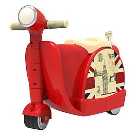 Vali Hình Xe Vespa Chòi Chân Royal Care - Đỏ