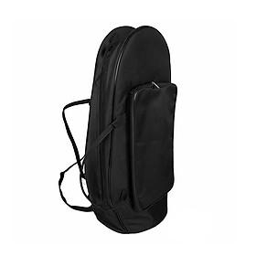 Premium Abrasion Cloth Euphonium Gig Bag Baritone Case with Straps Large Capacity Brass Wind Instrument Accessories - Black