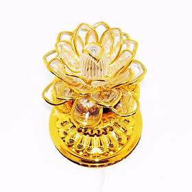 Đèn LED trang trí hoa sen viền vàng A5