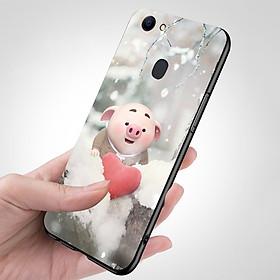 Ốp điện thoại dành cho máy Oppo F7 - Trái tim của lợn con MS FUNN0026