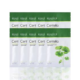 Combo 10 mặt nạ dưỡng ẩm, làm trắng và mờ thâm sẹo Beauskin Cica Centella 30ml - Hàn Quốc Chính Hãng
