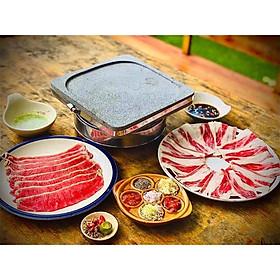 Đá Nướng Thịt Núi Lửa Hình Vuông Limoki