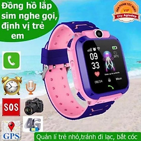 Đồng hồ thông minh định vị  trẻ em Q12 cảm ứng chống nước nghe gọi 2 chiều bản Tiếng Việt