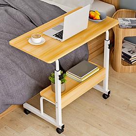 Bàn làm việc, bàn học nâng hạ kiểu Hàn có giá sách kích thước 60x40cm