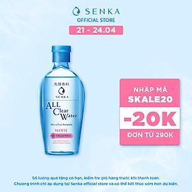Nước tẩy trang SENKA A.L.L. CLEAR WATER Micellar Formula White 230ml