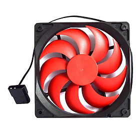 4 Pin Port 12CM Chassis Computer Case Mute Cooling Fan with Screws