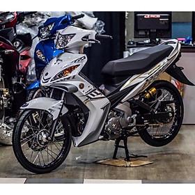 Tem dán dành cho xe Exciter 2010 mẫu Crypton 135 Rời đen trắng