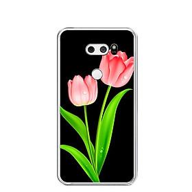 Ốp lưng dẻo cho điện thoại LG V30 - 0084 HOATUPLIP - Hàng Chính Hãng