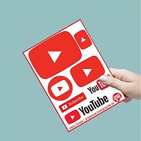 Youtube - Single Sticker hình dán lẻ