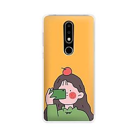 Ốp lưng dẻo cho điện thoại Nokia 6.1 plus/X6 - 01171 7899 GIRL01 - in hình chibi dễ thương - Hàng Chính Hãng