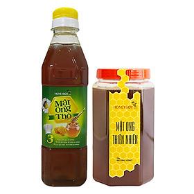 Combo Thực Phẩm Chức Năng Mật Ong Thiên Nhiên Honeyboy (1kg) Và Mật Ong Thô Honeyboy (400ml)