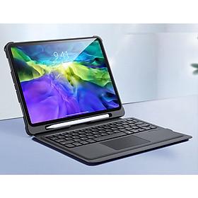 Bao da dành cho iPad Pro 11 2020 kèm bàn phím bluetooth có bàn di chuột Magic Keyboard TouchPad chính hãng Ducis