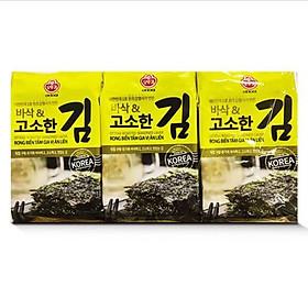 Combo 6 lốc Rong biển Ottogi tẩm gia vị ăn liền (Lốc 3 gói - 12.6gr)