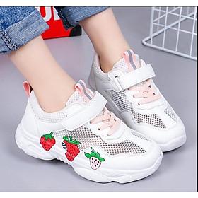 Giày thể thao bé gái dâu tây đỏ siêu nhẹ size 27 - 37 phong cách  - TT70