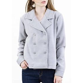 Hình đại diện sản phẩm Áo Khoác Nữ Form Ngắn Button Coat The Cosmo - Light Grey