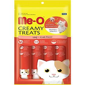 Đồ Ăn Mèo Me-O Bánh Thưởng Dạng Kem Vị Cua (60g)