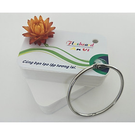 500 thẻ flashcard kích thước 5x8cm bo 4 góc siêu dễ thương, học từ vựng ngoại ngữ