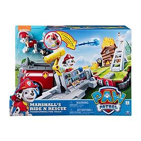 Đồ chơi mô hình PAW PATROL Bộ xe cứu hỏa biến hình giải cứu siêu hạng Marshall 20107845
