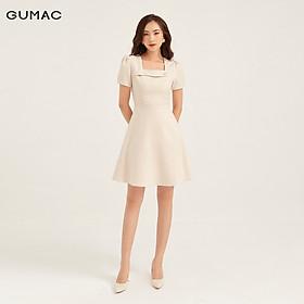 Đầm cổ vuông phối nút GUMAC DB1154