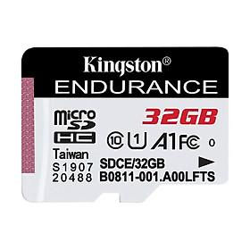 Kingston High Endurance 64GB TF Card Micro SD Card U1 C10 A1 High Speed TF Card for Dashcam Home Surveillance Camera