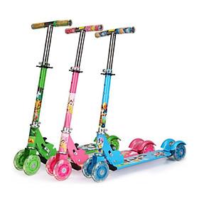 Xe trượt scooter ba bánh phát sáng nhiều màu, có chuông cho bé vận động