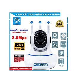 Camera IP Wifi 3 râu 2.0 Mb - 1080P Kiwivision - camera chạy phần mềm Yoosee - Camera giám sát - Camera An Ninh - Hàng Chính Hãng
