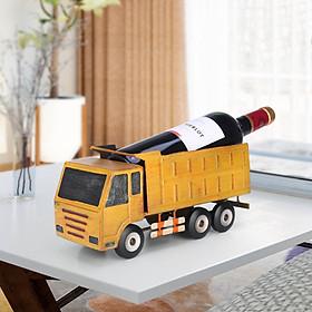 Truck Wine Holder Vintage Fashioned Pickup Truck Wine Rack Long Figurine Wine Bottle Holder - Yellow