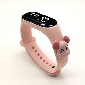 Đồng hồ trẻ em Silicon nhiều màu, đồng hồ điện tử thông minh cho bé E132 - MÀU HỒNG NHẠT