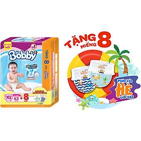 Tã dán Bobby siêu thấm - khô thoáng XL62 [Tặng 8 Miếng Phiên Bản Hè Giới Hạn]-1