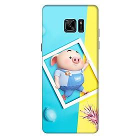 Ốp lưng nhựa cứng nhám dành cho Samsung Galaxy Note FE in hình Heo Con Tinh Nghịch