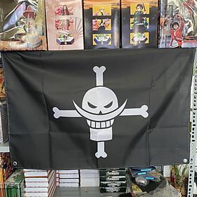 Cờ hải tặc One Piece - Cờ Râu Trắng - Cờ Hải Tặc Bố Già 60 x 90cm