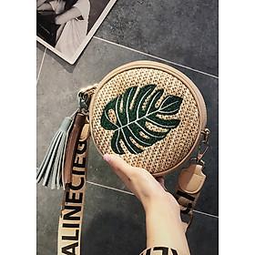 Túi nữ dáng tròn dạng cói thời trang LA8909