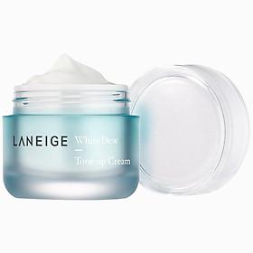 Bộ Kem dưỡng nâng tông da trắng hồng tự nhiên Laneige White Dew Tone Up Cream 50ml + tặng Bộ dưỡng trắng làm sáng da White Dew Trial Kit-2