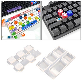 Keycaps Resin Mold Keycap Crafting Epoxy Mould Key Puller Cat Claw Molds Cat