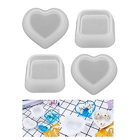 4Silicone Resin Mold Jewelry Bead Container Box Cake Modeling Mould Jewelry Tool