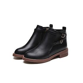 Giày Boot nữ thời trang khóa kéo B090D